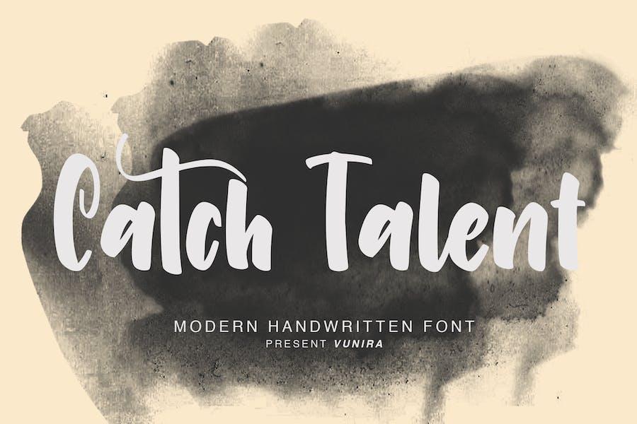 Catch Talent   Modern Handwritten Font