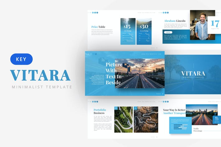 Thumbnail for Vitara - Minimalist Keynote Template