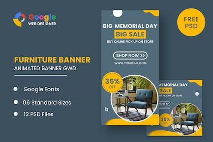 Furniture Model Google Adwords HTML5 Banner Ads