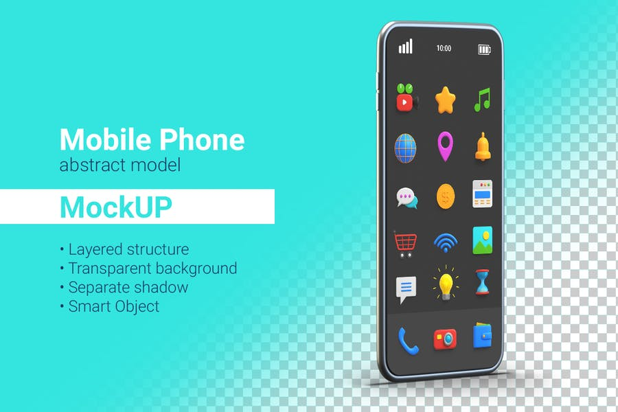 Smartphone Mockup Mobile phone abstract model