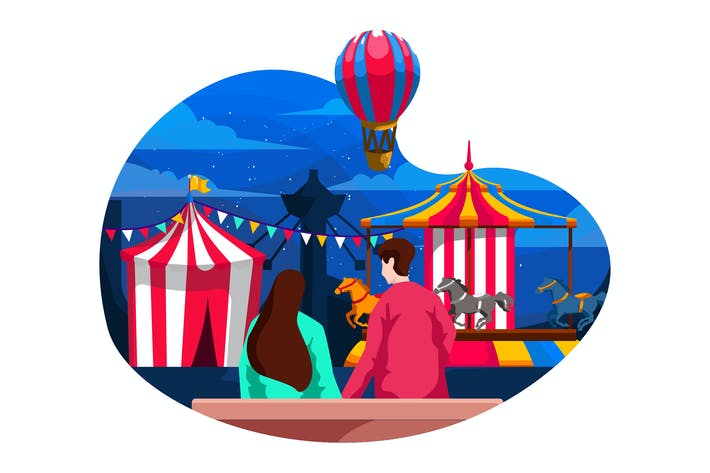 Thumbnail for Carnaval Flat Illustration 1.4
