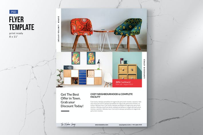 Thumbnail for Simple Furniture & Interior Flyer