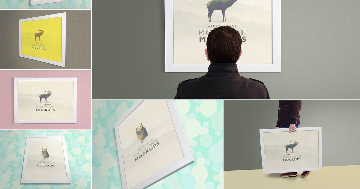 Download Poster Frame Mockups by zippypixels