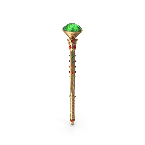 Scepter with Mixed Gems