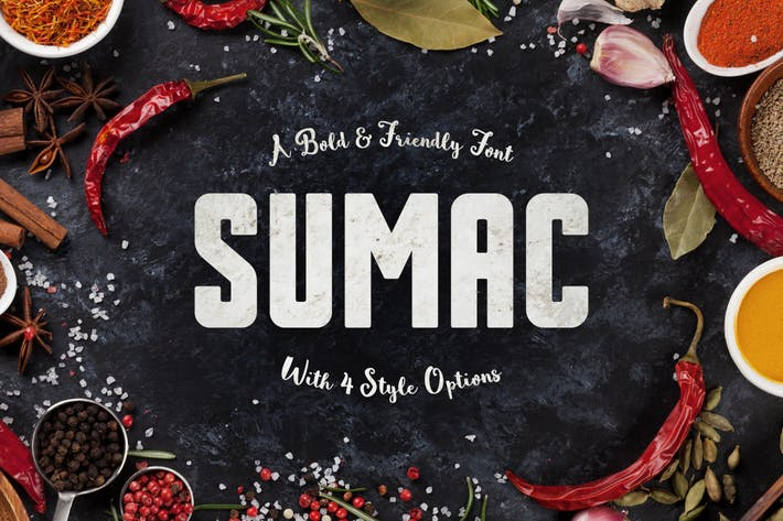 Thumbnail for Sumac Typeface