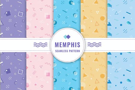 Memphis Seamless Pattern Collection