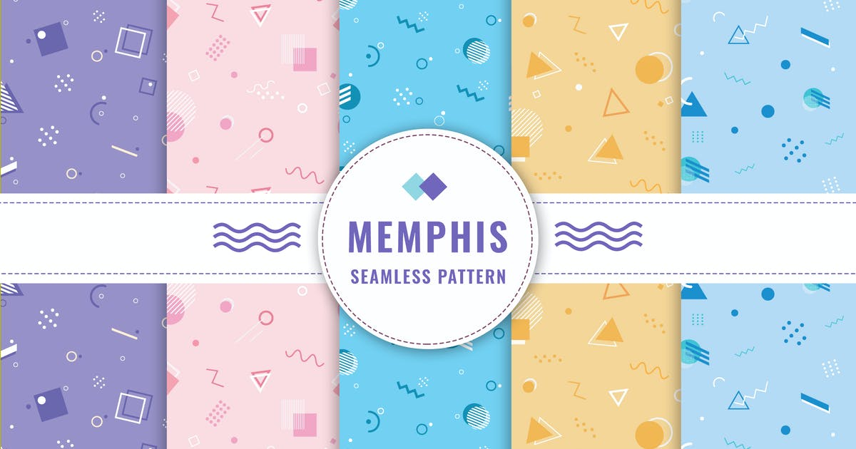 Download Memphis Seamless Pattern Collection by nanoagency