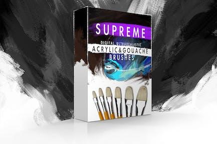 Supreme Acrylic & Gouache Photoshop Brushes