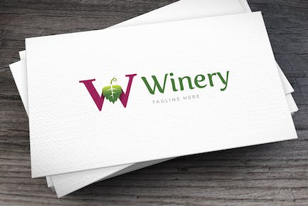 Winery Letter W Logo Template