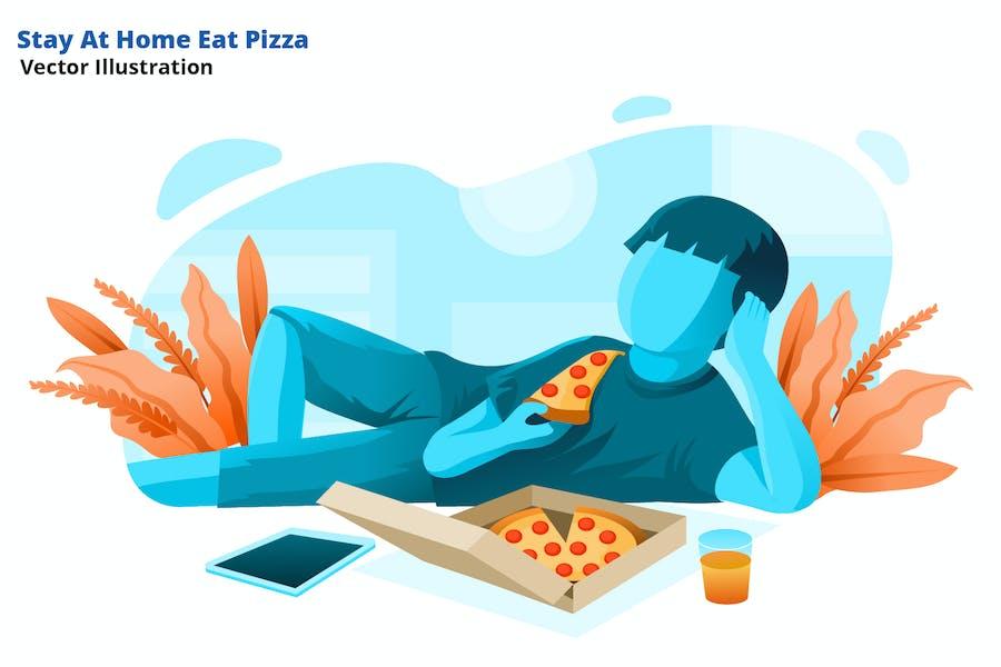 Bleiben Sie zu Hause - Vektor Illustration