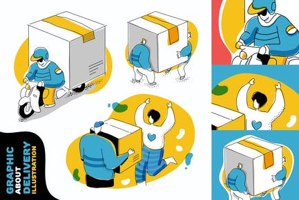 Delivery quirky graphic