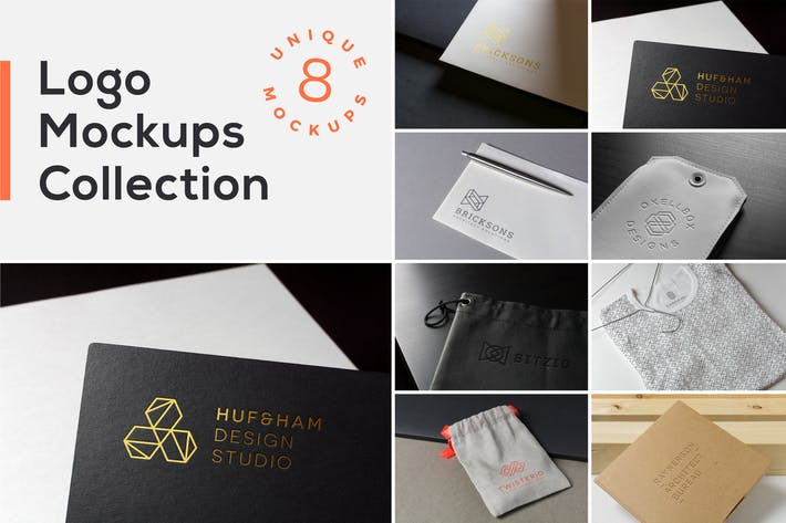 Thumbnail for Logo Mockups Collection Vol. 1