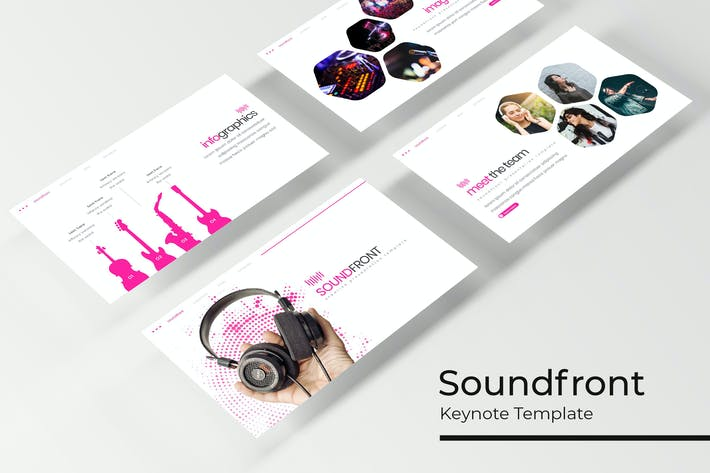 Cover Image For Soundfront - Plantilla de Keynote