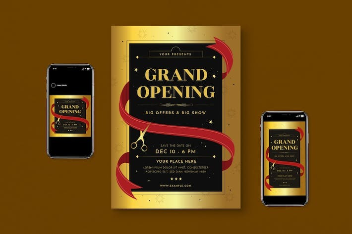Thumbnail for Grand Opening Flyer Set