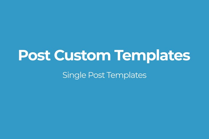 Thumbnail for Post Custom Templates