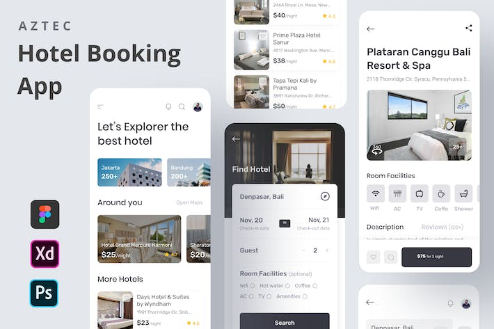 Thumbnail for AZTEC - Hotel Booking App