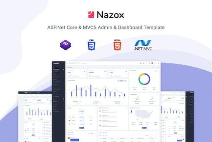 Nazox - ASP.Net Core & MVC5 Admin & Dashboard