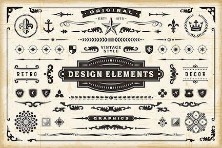 Conjunto de elementos de diseño original vintage.