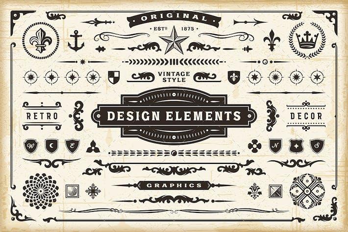Thumbnail for Vintage Original Design Elements Set