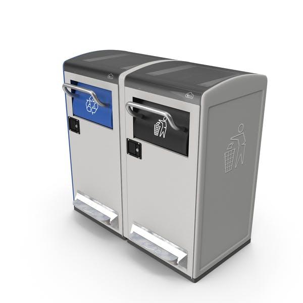 Allgemeine Abfall- und Recyclingstation Generika