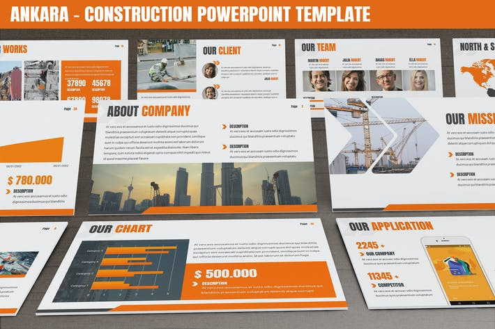 Ankara - Construction Powerpoint Template