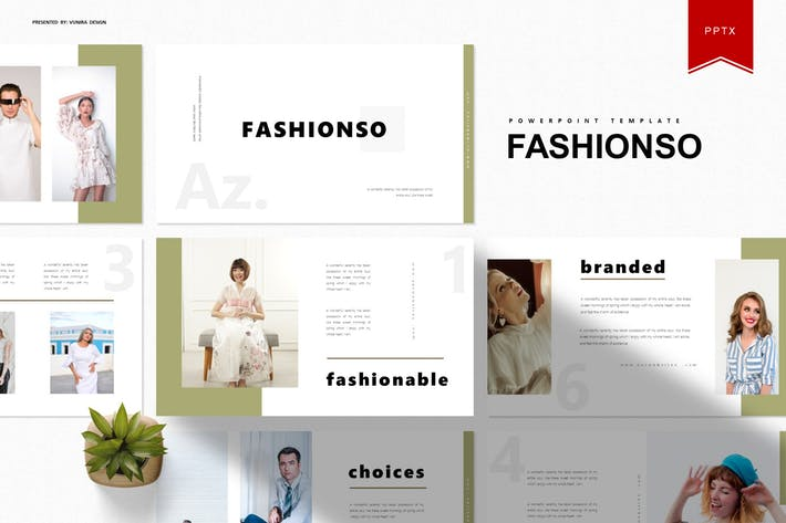 Thumbnail for Fashionso | Powerpoint Template