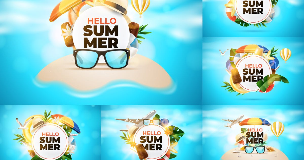 Download Realistic Summer Vacation Backgrounds by andrewtimothy