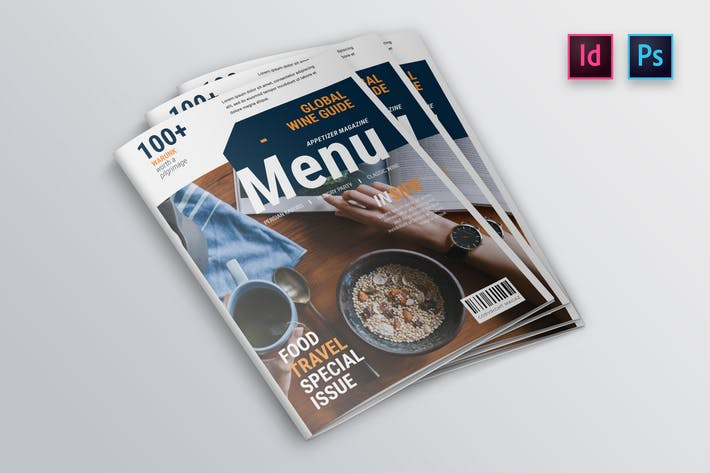 Thumbnail for Appetizer Magazine Cover Indesign Template