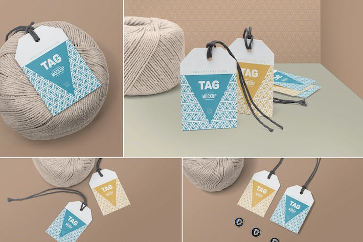 Thumbnail for String Tag Mockups