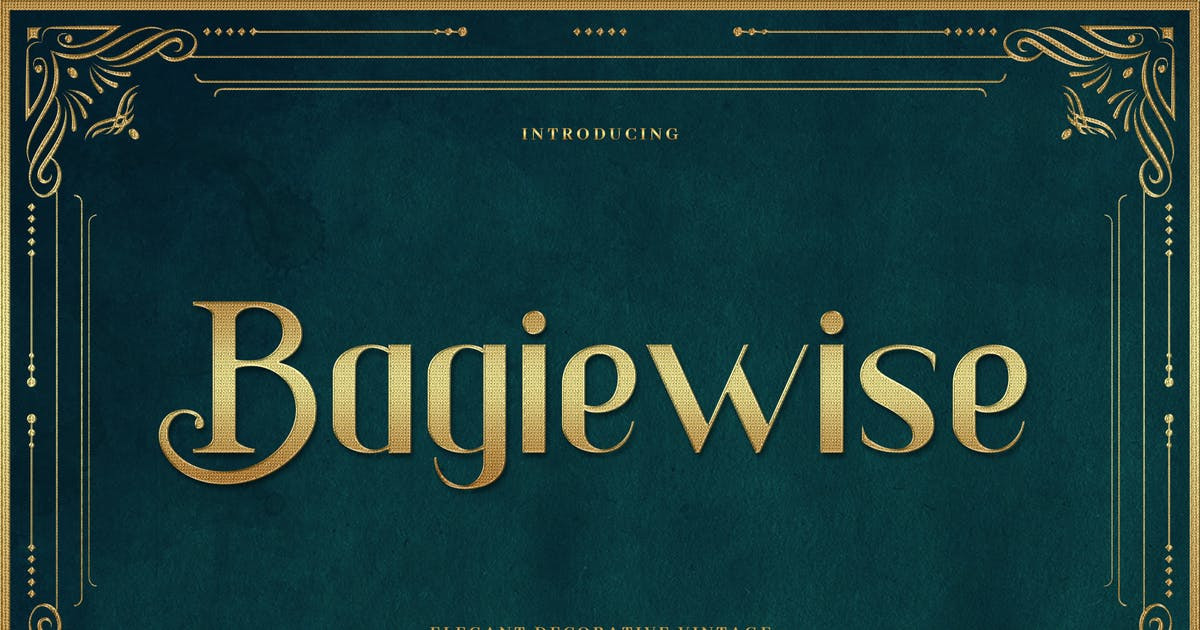 Download Bagiewise - Luxury Art Deco Typeface by naulicrea