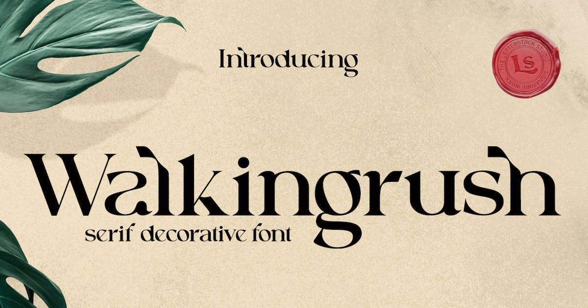 Download Walkingrush by LetterStockStd