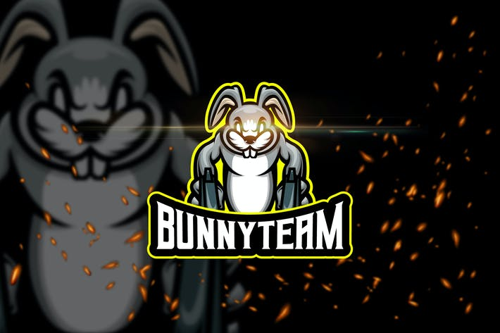Thumbnail for Bunny Team - Animal eSport Logo Template