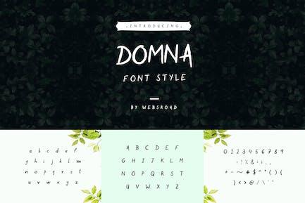 Domna - Custom Handmade Font Style