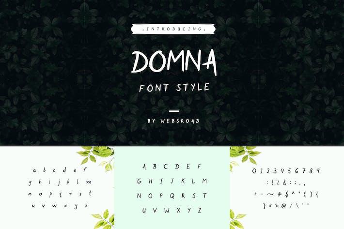 Thumbnail for Domna - Custom Handmade Font Style