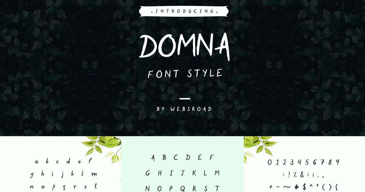 Download Domna - Custom Handmade Font Style by websroad