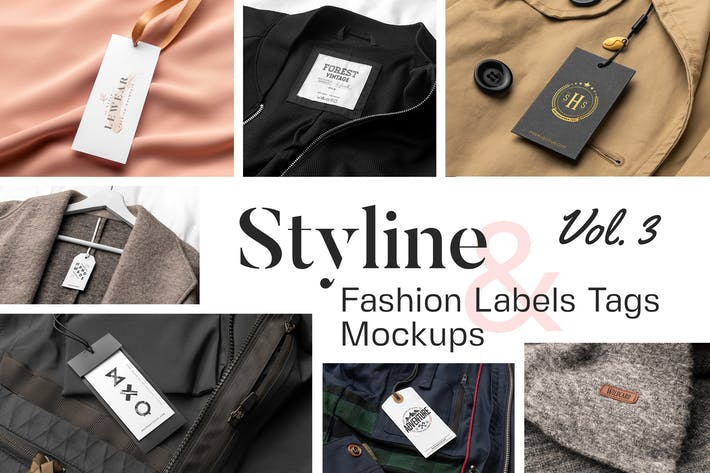 Styline - Apparel Labels and Tags Mockups vol 3