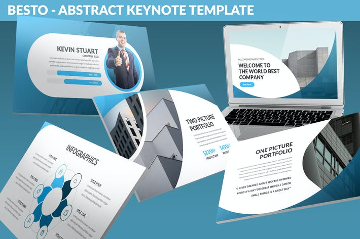 Thumbnail for Besto - Abstract Keynote Template