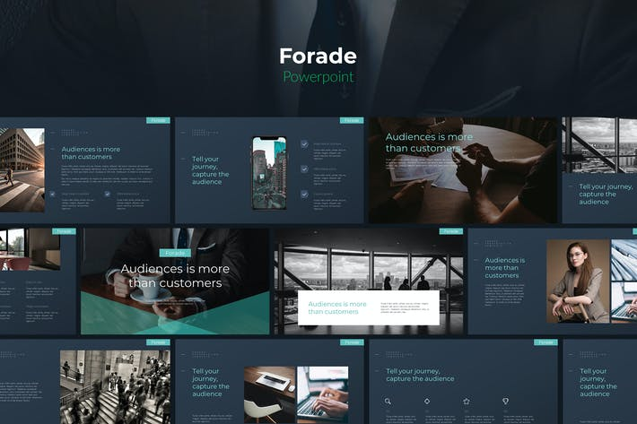 Thumbnail for Forade - Tech Business Powerpoint Template