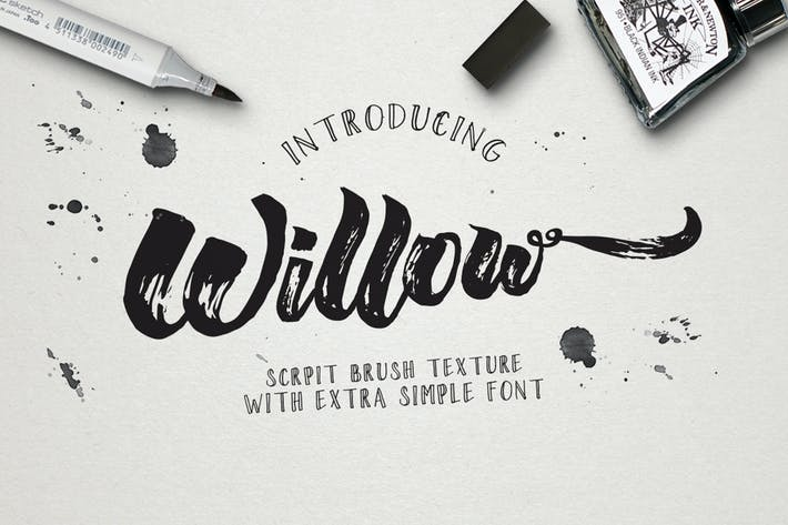 Thumbnail for Willow Brush Font Duo