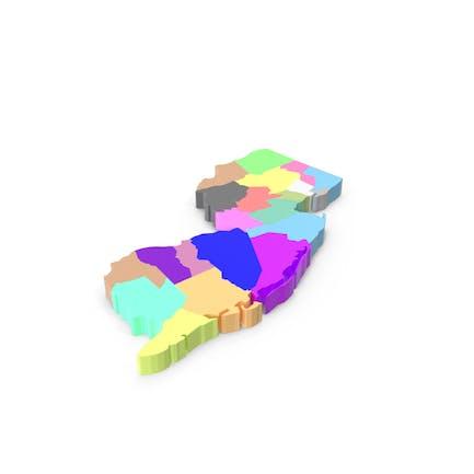 Карта округов Нью-Джерси