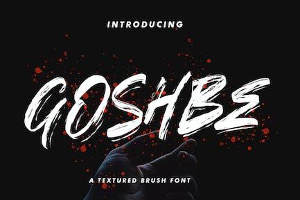 Шрифт кисти Goshbe
