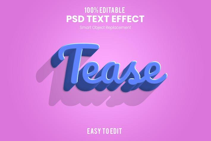 TEASE- 3D Text Effect PSD