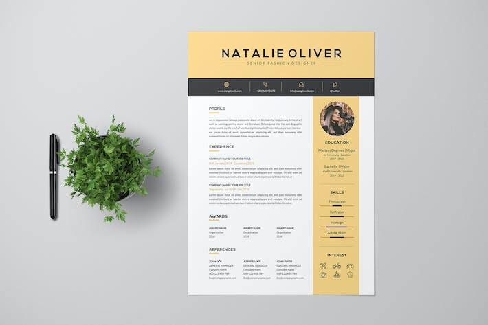 Thumbnail for Fashion Designer Resume