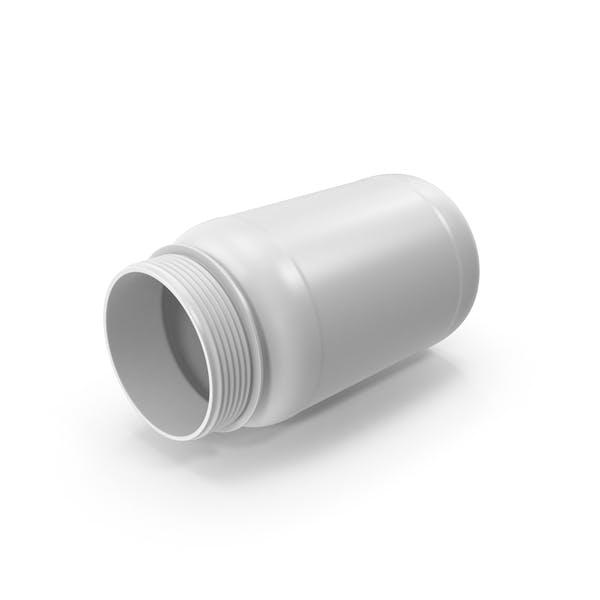 Бутылка таблеток без крышки