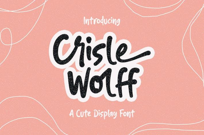 Thumbnail for Crisle Wolff Cute Display Font