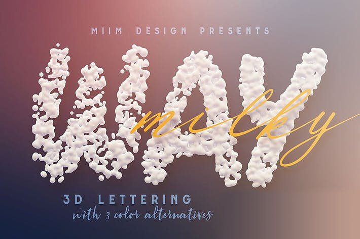 Thumbnail for Milky Way – 3D Lettering