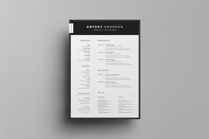 Thumbnail for Resume/CV Template