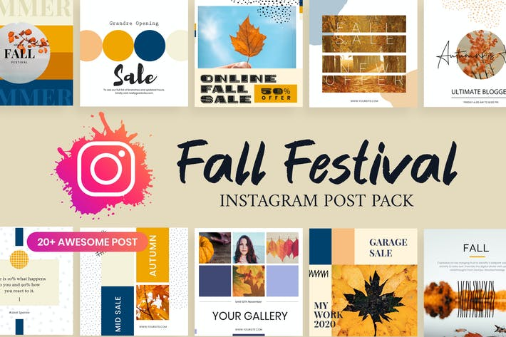 Thumbnail for Autumn Fall Festival Instagram Post Template