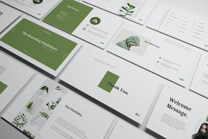 Thumbnail for Oreola Branding Guidelines Google Slides Template