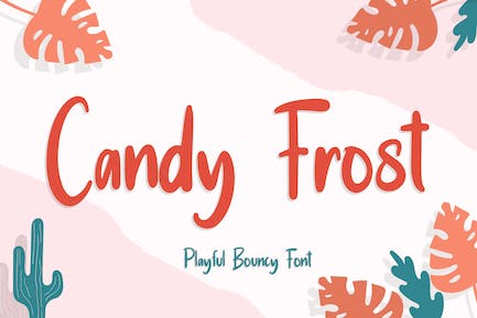 Candy Frost Playful Bouncy Font